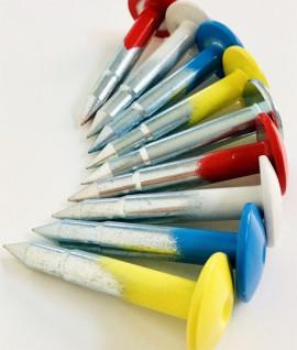 Repere d'arpentage couleur, Vente de repere d'arpentage, Repère arpentage, Topographie-lepont.fr